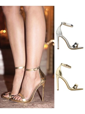 Women's Stiletto Heel Peep Toe PU With Buckle Sandals