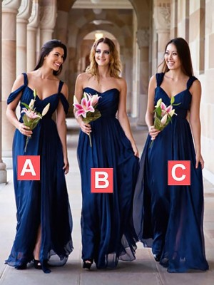 8fc5e194115 Royal Blue Chiffon A-Line Princess Floor-Length Bridesmaid Dresses