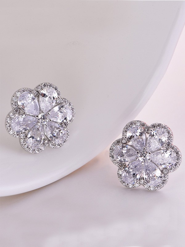 Charming Copper With Zircon Hot Sale Earrings
