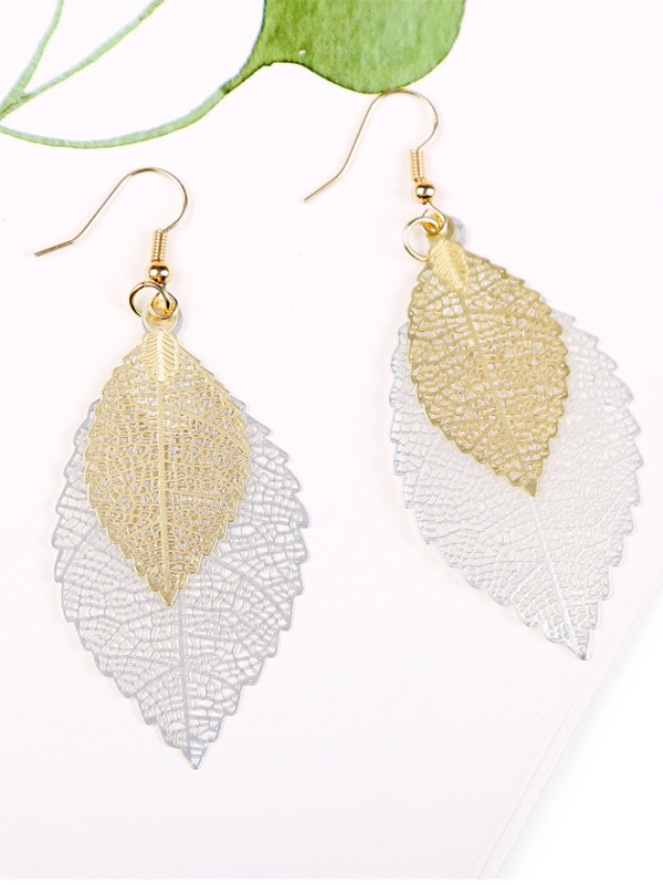 Vintage Copper With Leaf Hot Sale Earrings For Women