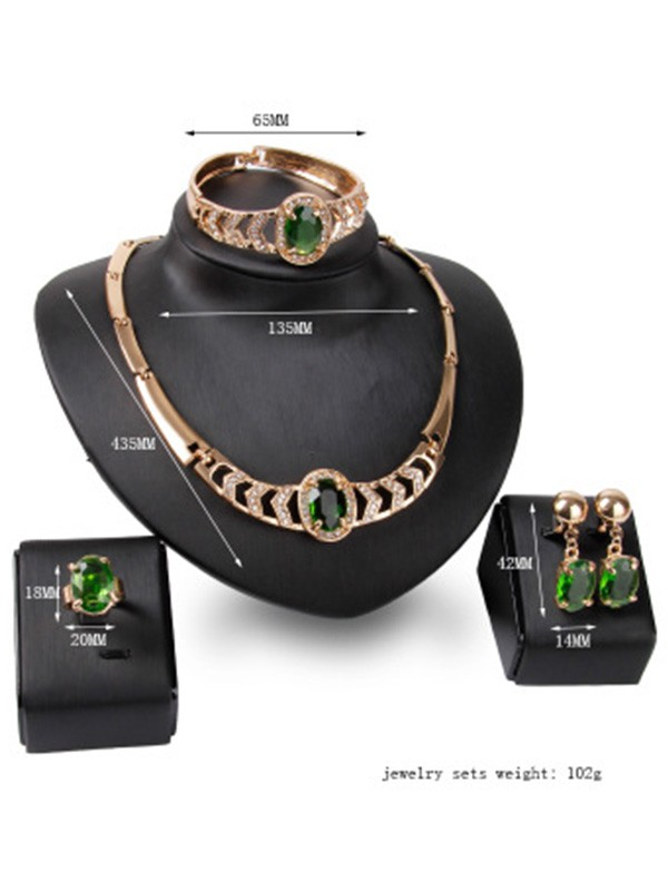 Luxurious Alloy Women Hot Sale Jewelry Set