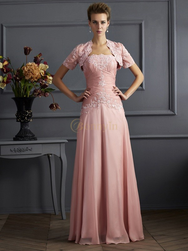 Pink Chiffon Sweetheart A-Line/Princess Floor-Length Mother of the Bride Dresses