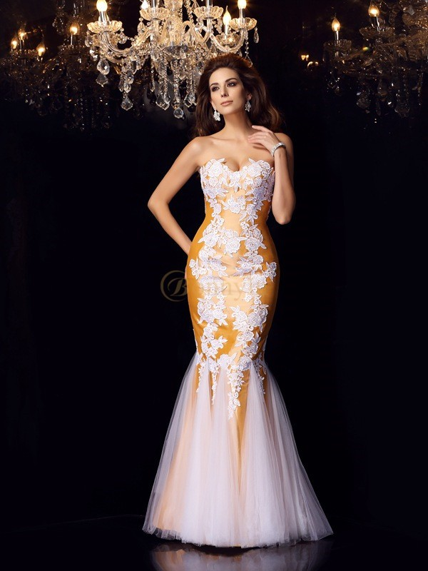 Taffeta Sweetheart Trumpet/Mermaid Floor-Length Dresses