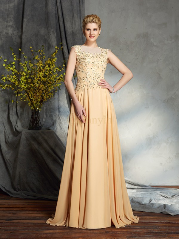 Chiffon Scoop A-Line/Princess Floor-Length Mother of the Bride Dresses