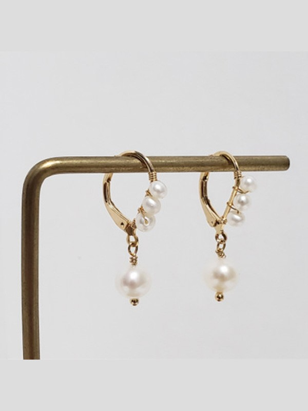 Graceful Pearl Hot Sale Earrings For Ladies
