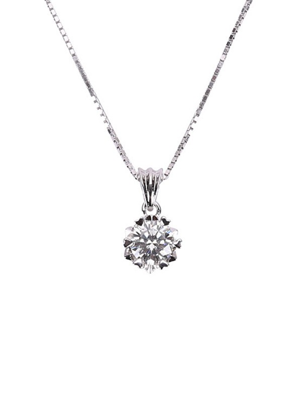 Simple S925 Silver Ladies Necklaces