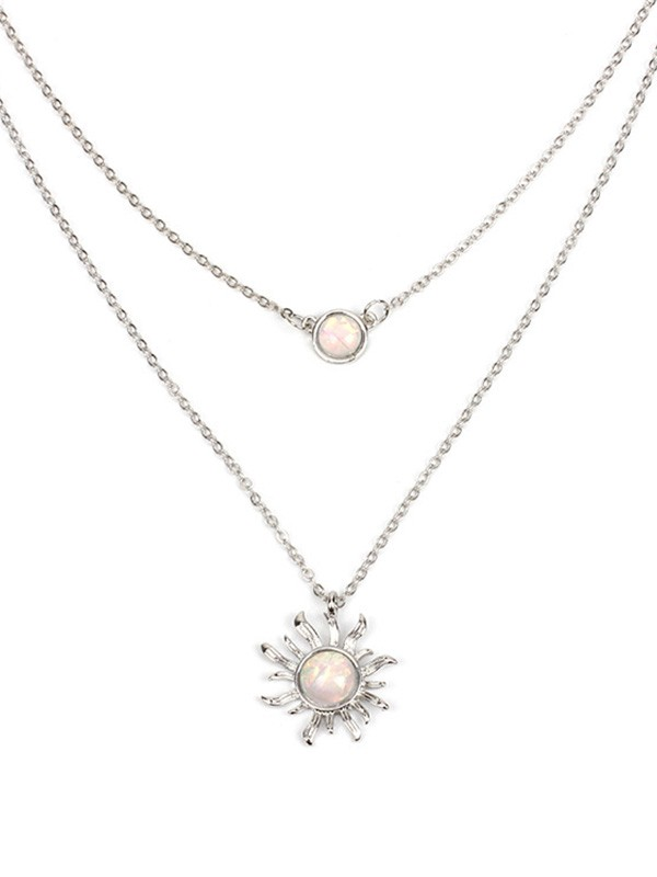 Occident Simple Necklaces With Sun For Women