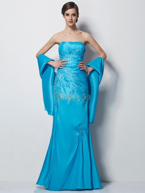 Blue Taffeta Sweetheart A-Line/Princess Floor-Length Mother of the Bride Dresses